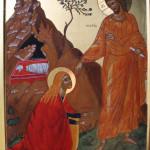 Ikone Der Auferstandene Christus und Maria Magdalena