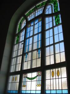 Jugenstilfenster im Gästehaus