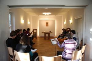 Gottesdienst in der Kapelle