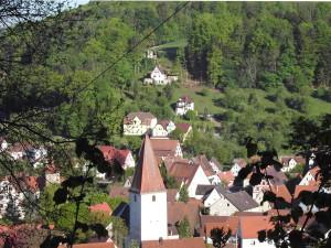 Blick auf Eschenbach und unsere Häuser